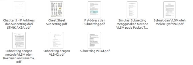 Kumpulan Ebook Subnetting